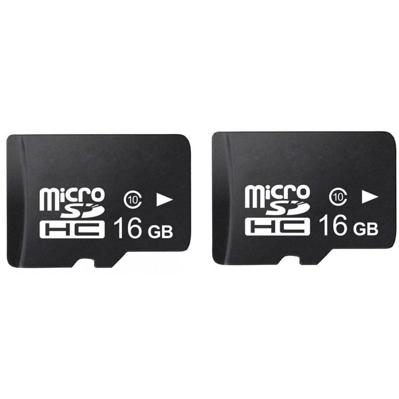 SD-Speichekarte microSD 16GB - 2 Stücke