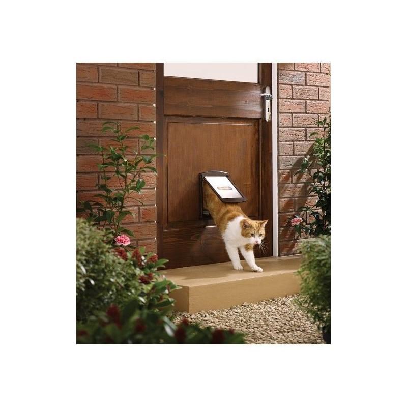 Tür für Hunde und Katzen Staywell 730, braun S